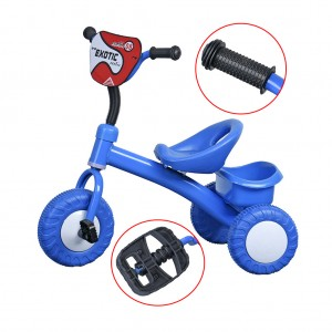 Kids Children Tricycle 3 Wheel Bike with Rear Bucket Outdoor Fun - Blue Colour
