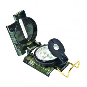 Military Metal Camo Lensatic Compass