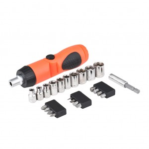 24 Piece Ratchet Screwdriver Bit And Socket Hand Tool Kit Set