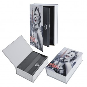 Hollow Book Safe With Key Lock for Security Storage Box Hidden Compartment