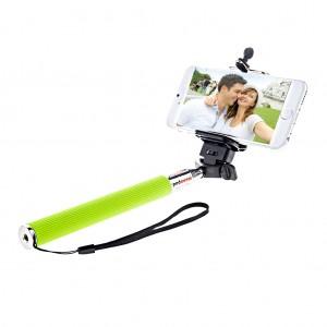 Extendable Monopod Handheld Selfie Stick for Smartphone Apple Green