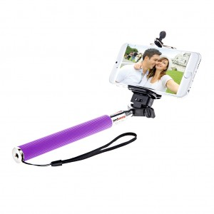 Extendable Monopod Handheld Selfie Stick for Smartphone Purple