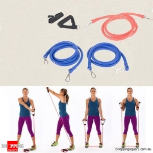 "70"" Adjustable Fitness Toning Resistance Tubes"