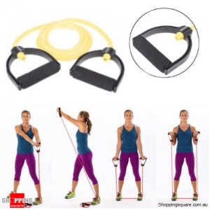 80 Inch Adjustable Resistance Fitness Toning Tubes - Yellow