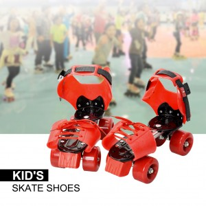 Children Kid's Adjustable Sports Roller Skating Shoes Orange Colour