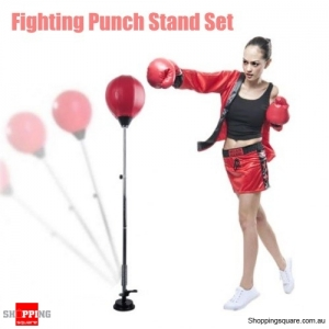 Adjustable Kids Speedbag Boxing MMA Fighting Punch Stand Set
