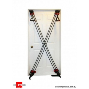 Door Gym System Pull Strap Body Builder Six Pack Training Fitness