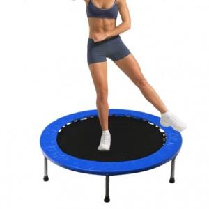 45 Inch Mini Trampoline Jogging Exercise Rebounder Blue