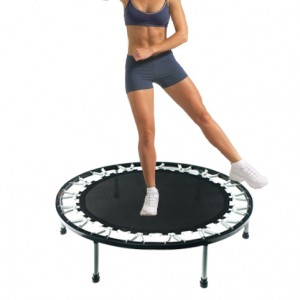 50 Inch Mini Trampoline Jogging Exercise Rebounder Black