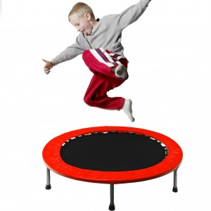 54 Inch Mini Trampoline Jogging Exercise Rebounder Red
