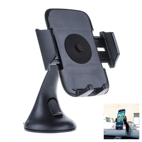 Universal 360° Car Windshield Mount Holder Cradle for iPhone 7 6 Plus 5S 4S Samsung Smartphones