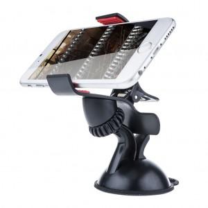 Adjustable Universal Car Mount Phone Holder for iPhone 7 6 Plus 5S 4S Samsung - Black