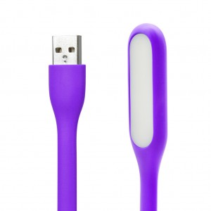 Bendable LED Light Silicone Mini USB Lamp for Reading-Purple