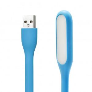 Bendable LED Light Silicone Mini USB Lamp for Reading-Sea Blue