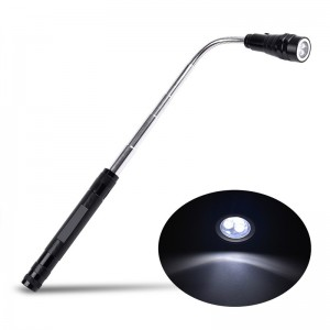 3 LED 200 Lumens Telescopic Magnetic LED Flashlight Torch