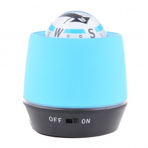 LED Lighted Ball Compass & Air Purifier for Car/Truck Power Bank - Blue