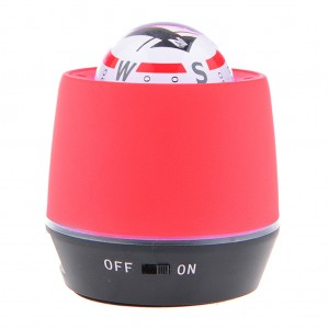LED Lighted Ball Compass & Air Purifier for Car/Truck Power Bank - Red