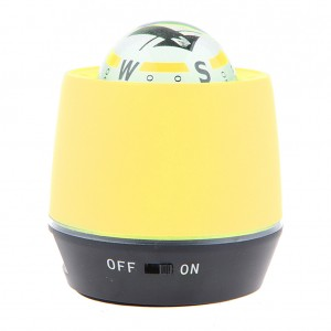 LED Lighted Ball Compass & Air Purifier for Car/Truck Power Bank - Yellow