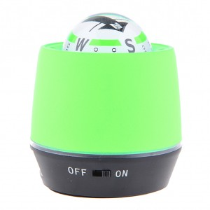 LED Lighted Ball Compass & Air Purifier for Car/Truck Power Bank - Apple Green
