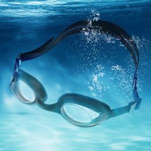 Anti-Fog UV Shield Swimming Goggles-Black