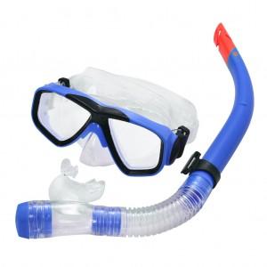 Swimming Goggles Mask fogless PVC Snorkel Set Royal
