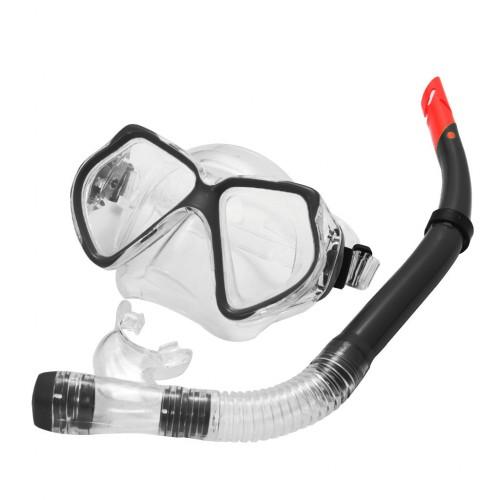 Snorkel Set Combo Adventure Swimming Goggles Black