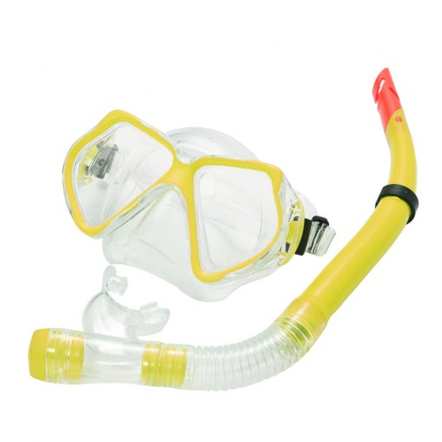 Snorkel Set Combo Adventure Swimming Goggles Yellow