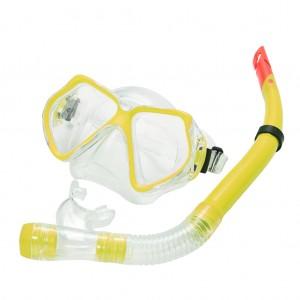 Snorkel Set Combo Adventure Swimming Goggles Yellow