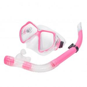 Snorkel Set Combo Adventure Swimming Goggles Pink