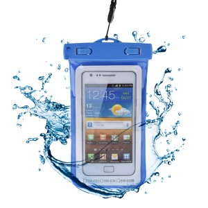 Universal Waterproof Cellphone Sealed Bag Pouch Dry Bag with Lanyard