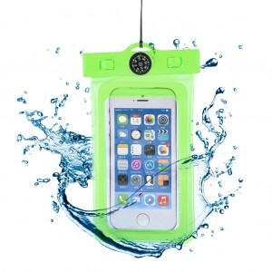 """Waterproof Phone Case Dry Bag for 4.7""""Mobile Phone with Compass Apple Green"""