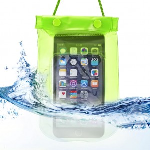 Waterproof Bag Case Pouch Dry Bag for All Mobile Phone-Apple Green