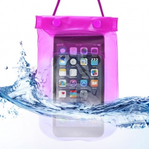 Waterproof Bag Case Pouch Dry Bag for All Mobile Phone-Hot Pink