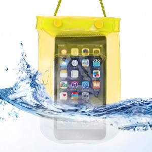 Waterproof Bag Case Pouch Dry Bag for All Mobile Phone-Light Yellow