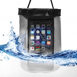 Waterproof Bag Case Pouch Dry Bag for All Mobile Phone-Black