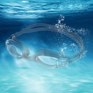 Anti-Fog & Anti-UV ray Silicone Swimming Goggles - Black
