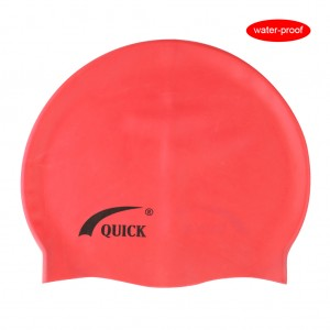 Silicone Waterproof Swimming Cap Shower Hat-Coral