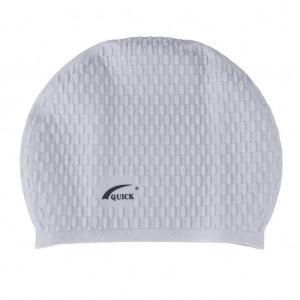 Bubble Swimming Unisex Cap-Light Gray