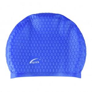 Silicone Bubble design Swimming Unisex Cap - Royal