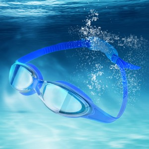 Mirrored Swimming Goggles Adjustable Anti Fog Safety Goggles Royal