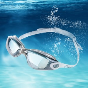 Mirrored Swimming Goggles UV Protection Safety Goggles Gray