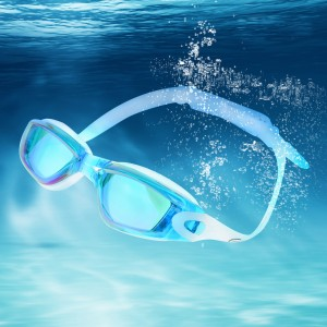 Mirrored Swimming Goggles UV Protection Safety Goggles Sea Blue