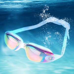 Mirrored Swimming Goggles UV Protection Safety Goggles Pink