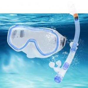 Adult Snorkel Diving Mask PVC Snorkel Set adjustable Royal