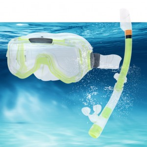 Swimming Goggles Mask PVC Snorkel Snorkel Set Lime