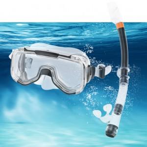 Swimming Goggles Mask and PVC Snorkel Adult Snorkel Set Black