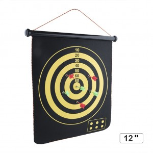 "12"" Magnetic Flannel Dart Board Set"