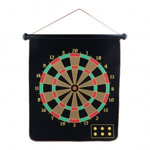 "15"" Magnetic Flannel Dart Board Set"