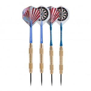 3 Brass Darts Set with Slim Darts Case