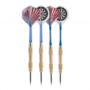 3 Brass Darts Set with Slim Darts Case